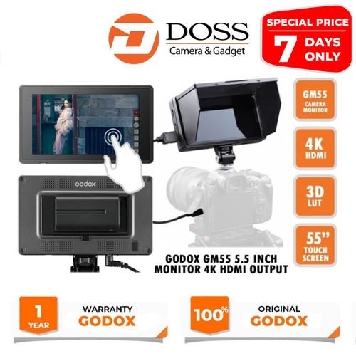 Foto Produk Godox Camera Monitor 4K GM55 5.5 Inc HDMI Touchscreen dari DOSS