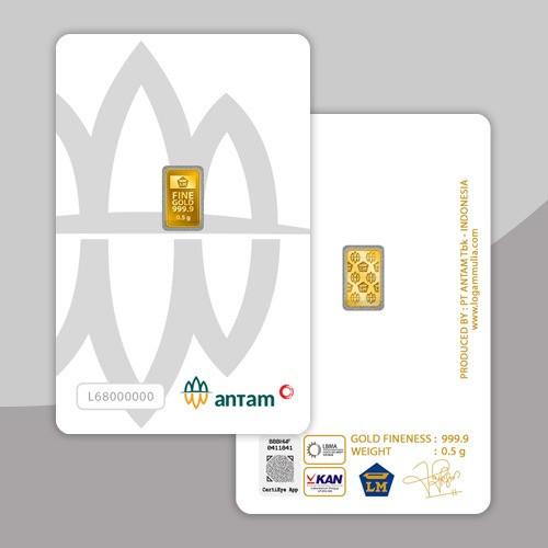Foto Produk Logam Mulia Antam 0,5 Gram, Lm Antam, Emas Batangan dari NagaMas