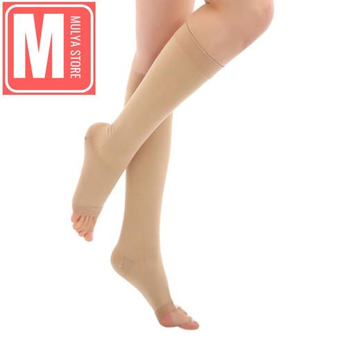 Foto Produk Stocking Varises Ccl1 Medical Compression Socks Stoking Kompresi Impor - Nude, L dari Mulya Store