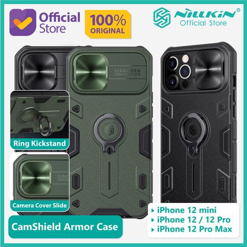 Foto Produk Case iPhone 12 mini Nillkin CamShield Armor Camera Cover Slide Casing - Black dari Nillkin Official