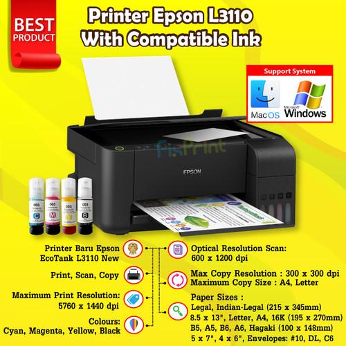Foto Produk Printer Epson L3110 ALL in One Print Scan Copy Garansi Multifungsi - COMPATIBLE INK dari FixPrint Indonesia