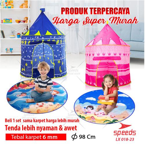 Foto Produk Tenda Anak Bermain Model Castle Kids Camping indoor SPEEDS 018-23 - Pink dari Speeds Official Store