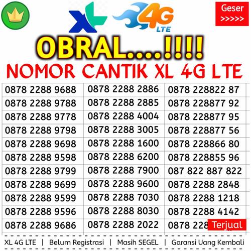 Foto Produk Kartu Perdana Nomor Cantik XL 4G Kuartet 8888 000 Couple dari gurushop