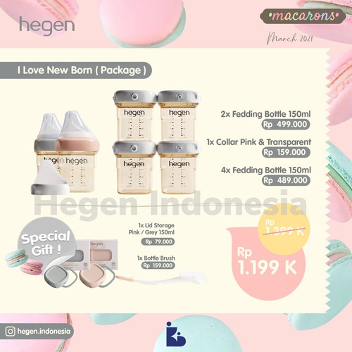 Foto Produk Hegen I Love New Born (Package) dari kiddobabystore