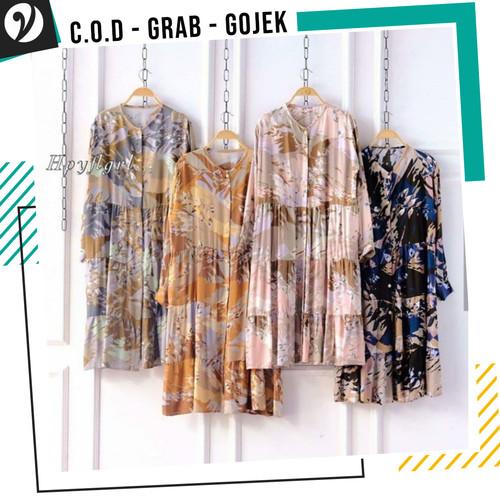 Foto Produk Baju Panjang Wanita Long Tunic Chati Rayon Viscose Motif dari YMK STORE INDONESIA