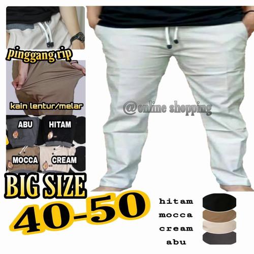 Foto Produk CELANA PANJANG PRIA JUMBO BIG SIZE CHINO PINGGANG RIP 27 50 - 41, Abu-abu dari @online shopping