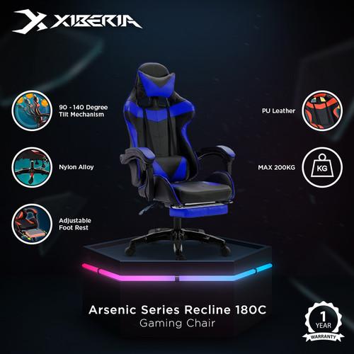 Foto Produk XIBERIA Gaming Chair Arsenic Series Recline 180C - BLUE dari Xiberia Nubwo Official