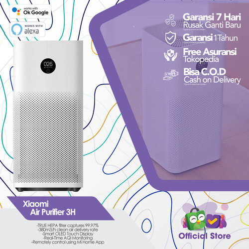 Foto Produk Xiaomi Mi Air Purifier 3/3H OLED Touch Display Multifunction 400 CADR dari Terta Official Store