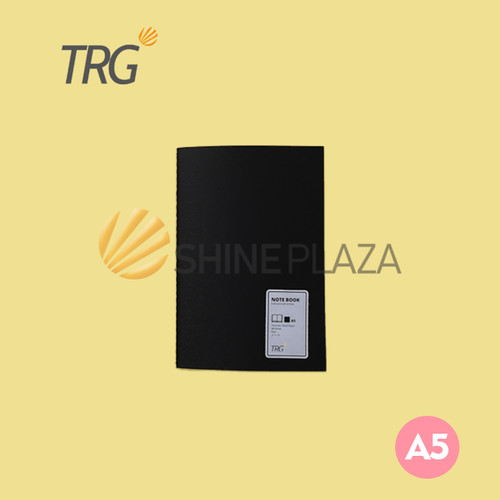Foto Produk Buku Notebook A5 Hitam - Black Plain Paper Notebook dari Shine Plaza