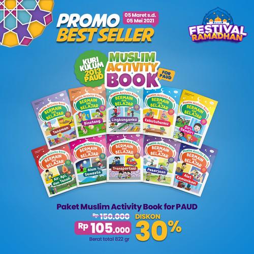Foto Produk Paket Muslim Activity Usia PAUD 1 Paket isi 10 Buku dari DM Bookstore