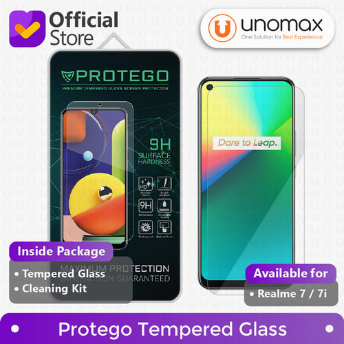 Foto Produk Tempered Glass Realme 7 / 7i Protego Screen Protector dari unomax