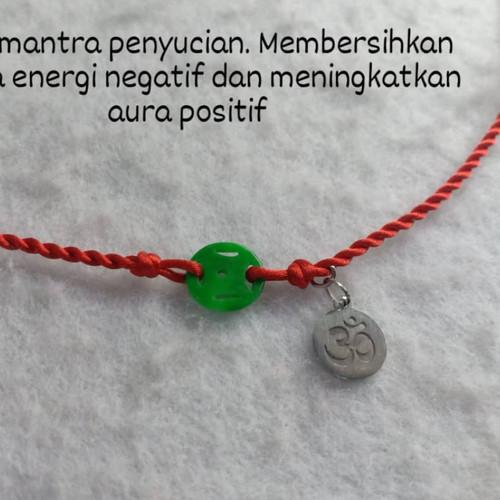 Foto Produk Kalung Mantra Ohm Mix Giok Asli Koin Hoki Cina dari IndChiKnotting