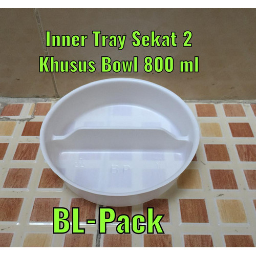 Foto Produk paper bowl inner tray sekat 2 dari BL-Pack