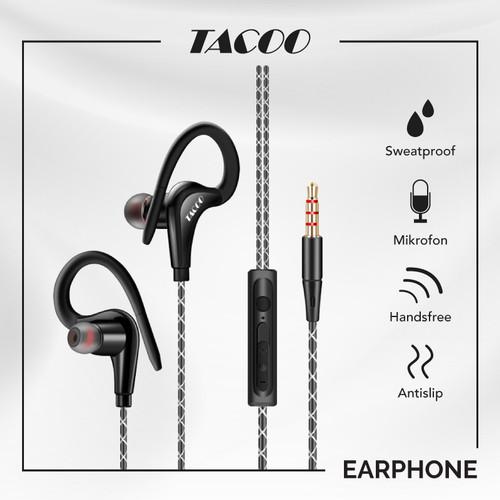 Foto Produk TACOO Earphone In-Ear Earbuds Waterproof Anti-slip Stereo with Mic dari TACOO Official Store