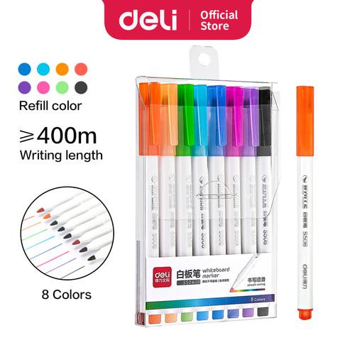 Foto Produk Deli 8 Color whiteboard marker graffiti drawing easy to erase S504 dari Deli Stationery