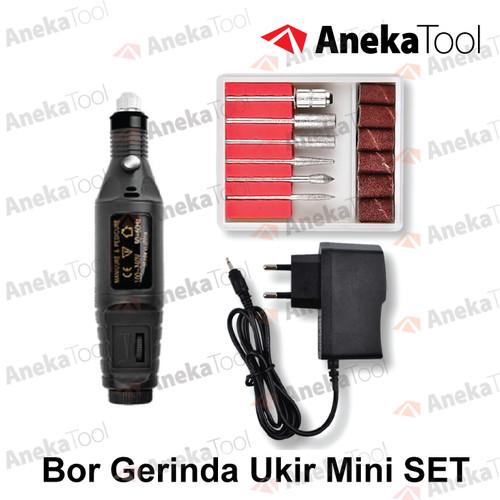 Foto Produk AT Bor Gerinda Ukir Mini SET - Putih dari AnekaTool