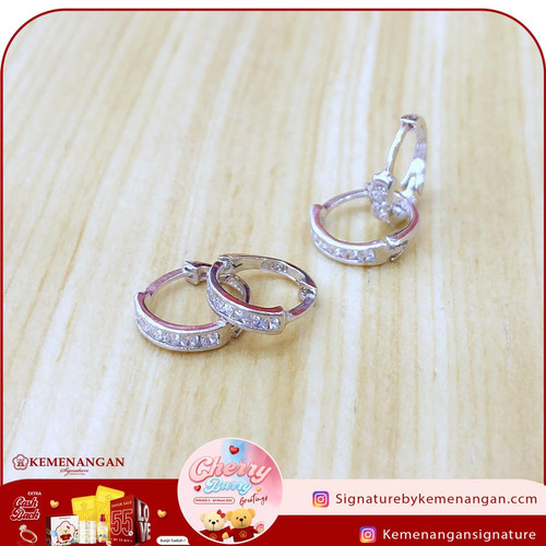 Foto Produk Giwang/Anting Emas Putih Jepit Bulat List Ring Kecil dari KSCCM ONLINE