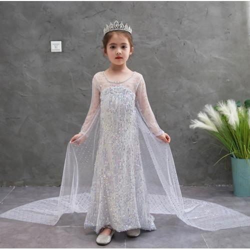Foto Produk Kostum Gaun Elsa Frozen 2 Biru Putih Baju Rok Pesta Ultah Anak E02 E08 dari de joliejolie