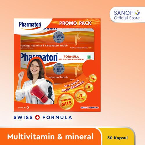 Foto Produk Paket Bulanan Pharmaton Formula Multivitamin 30s dari Sanofi Official Store