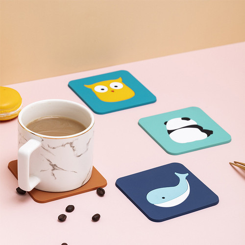 Foto Produk Tatakan Piring Gelas Silikon Tahan Panas Motif Karakter Serbaguna - Owl dari MitraBotol