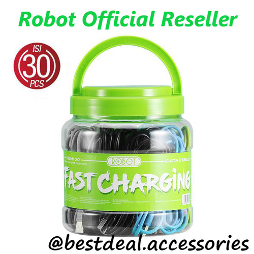 Foto Produk Kabel Data Robot RBM100 Micro USB Data Cable (1 Box isi 30 Pcs) dari bestdeal official