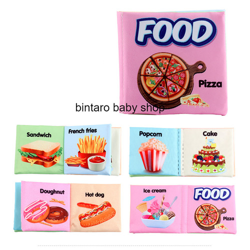 Foto Produk BUKU BAYI / SOFT BOOK/ BUKU BANTAL / BUKU KAIN - FOOD dari Bintaro Baby Shop