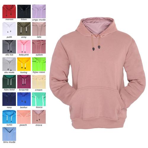 Foto Produk Hoodie Jumper Jaket Sweater Polos Unisex - Coklat Muda dari Topone 88