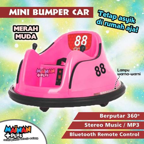 Foto Produk MAINAN ANAK MOBIL AKI BOMBOMCAR MINI BUMPER CAR - Merah Muda dari MainanPlus