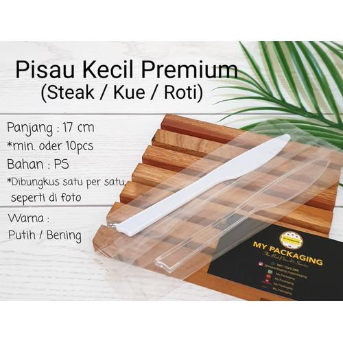 Foto Produk Pisau Plastik / pisau kue kecil / pisau steak PREMIUM - Dibungkus, Putih dari My Packaging