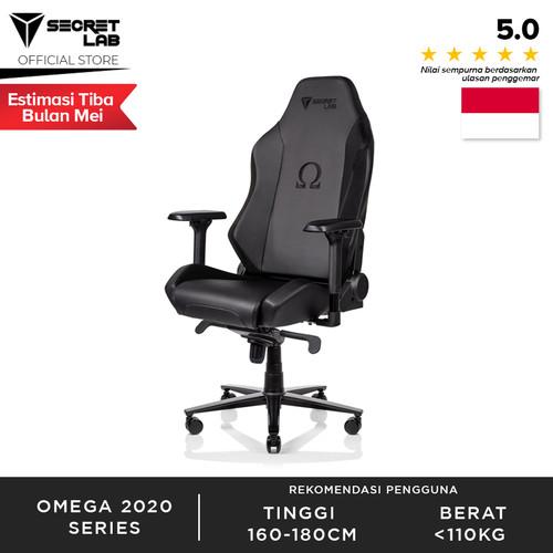 Foto Produk Secret lab OMEGA 2020 Series PRIME PU Leather Kursi Gaming - Black dari Secretlab