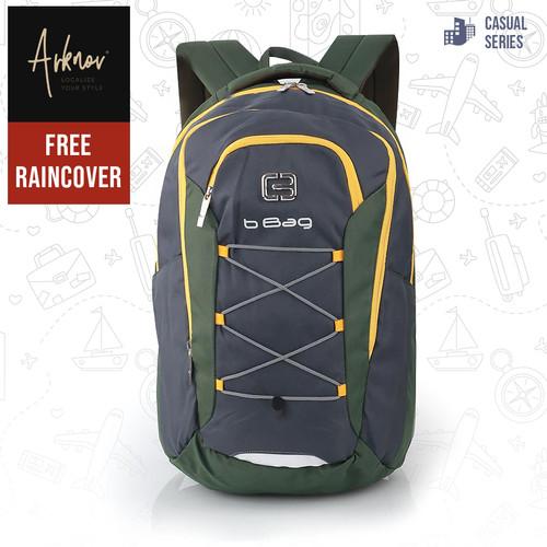 Foto Produk Tas Ransel Pria Original B-Bag Backpack Casual Laptop warna Hijau dari Arknov_bag's
