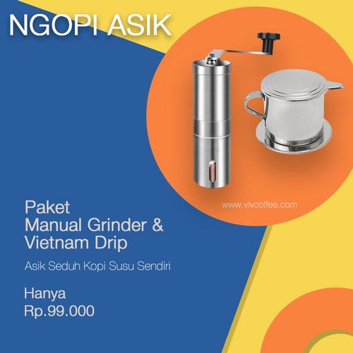 Foto Produk Paket Alat Kopi Murah Vietnam Drip - Grinder Kopi Manual dari VIV Coffee
