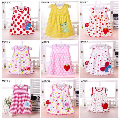 Foto Produk Dress Bayi Perempuan / Baju Bayi Cewek / Pakaian Bayi Perempuan Lucu - MOTIF C dari M&K ( Mom & Kids)