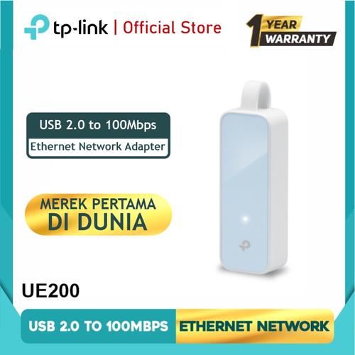 Foto Produk TP-LINK UE200 USB 2.0 100Mbps Ethernet Network Adapter dari TP-Link Official