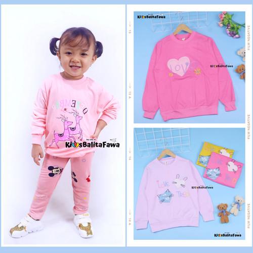 Foto Produk [PREMIUM IMPORT] Sweater Klowie uk 1-15 Tahun / Baju Anak Perempuan - 3-4 tahun, PEACH dari Kios Balita Fawa