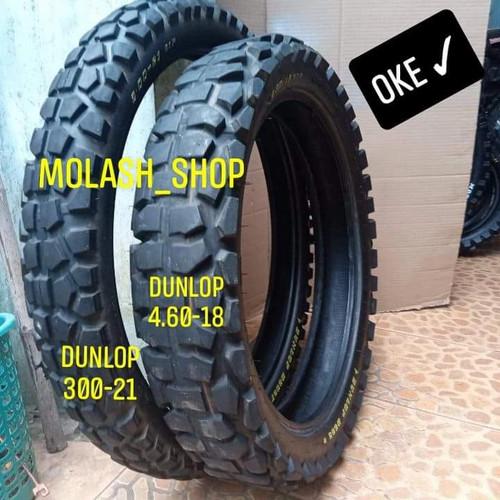 Foto Produk ban 18 21 dunlop cross trail dual purposes ori copotan dari molash_shop