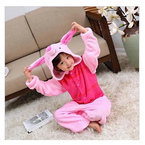 Foto Produk BAJU ONESIE KOSTUM PIGLET WINNIE THE POOH PIG BABI PIYAMA TIDUR ANAK - 110CM ANAK dari Republik Boneka