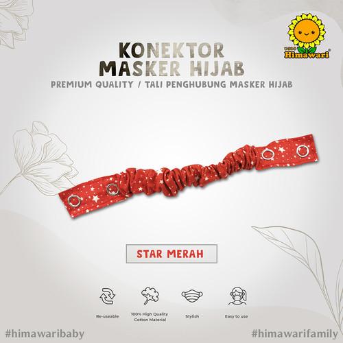 Foto Produk Bagian 2 : Konektor Masker Hijab Premium Quality / Tali Penghubung Mas - KM STAR MERAH dari himawaribabyshop