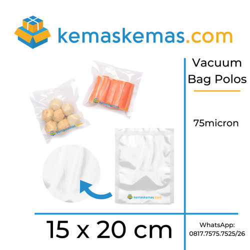 Foto Produk Plastik Vacuum / Plastik Vacum Bag / Plastik Vakum 15x20cm isi 100 dari kemaskemas