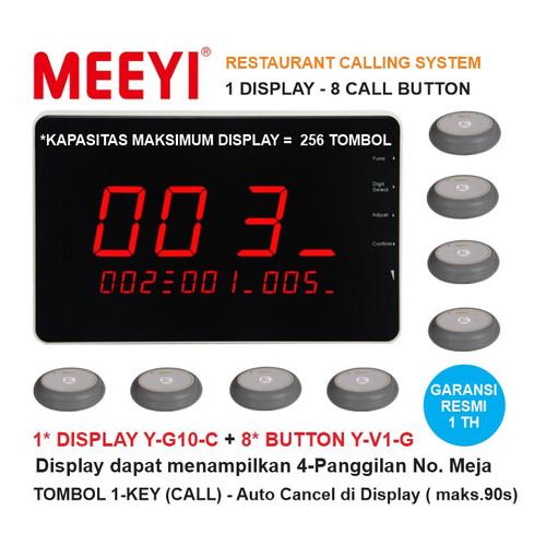 Foto Produk Bel Meja Restoran 1 Display dan 8 Call Button - MEEYI Y-G10-C x Y-V1 dari EtalaseBelanja