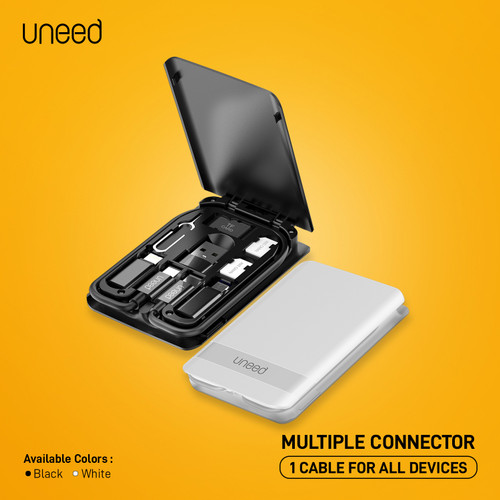 Foto Produk UNEED Multiple Connector USB A /Lightning/ Micro USB with Cable C to C dari Uneed Indonesia