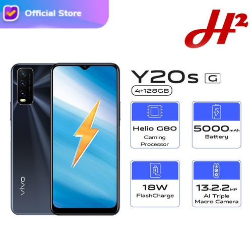 Foto Produk VIVO Y20SG 4/128 Y20s G - RAM 4GB / ROM 128GB - Garansi Resmi - Obsidian Black dari H2 Cellular