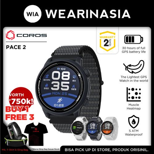 Foto Produk Jam Tangan Coros Pace 2 Premium GPS Sport Watch Original - Navy Nylon dari Wearinasia Official