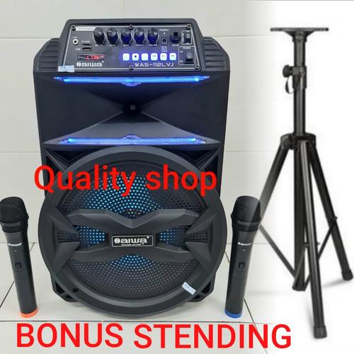 Foto Produk Speaker Wirelles portable Aiwa isi 2 mic wireless Pegang2 garansi 1thn dari 123onlineshop