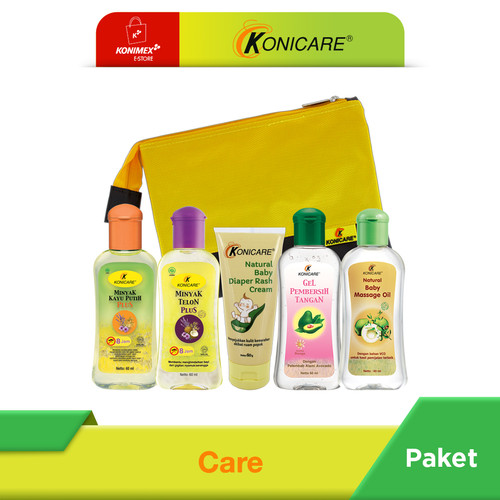 Foto Produk Konicare Minyak Telon Plus Anti Nyamuk Paket Care + Pouch dari Konimex Store