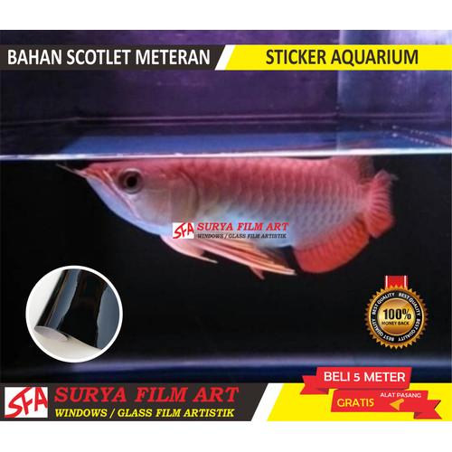 Foto Produk stiker aquarium akuarium ikan predator - rakel alat dari STIKER KACA FILM_SFA