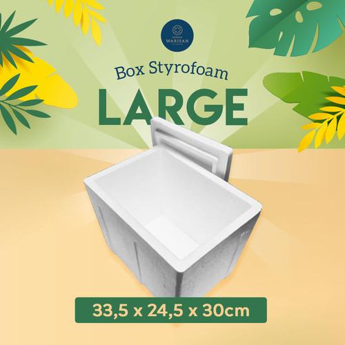 Foto Produk Box Sterofoam/Styrofoam Gabus /Stereofoam - Large (34 x 25 x 30cm) dari Elia Pempek Warisan