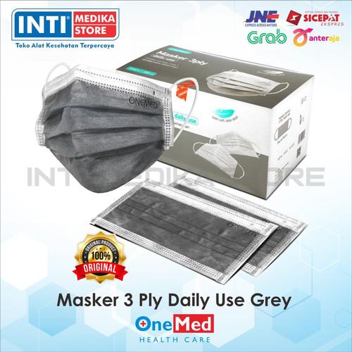 Foto Produk ONEMED - Masker Karet 3 Ply / Masker Non-Medis / Masker Earloop 3 ply dari INTI MEDIKA STORE