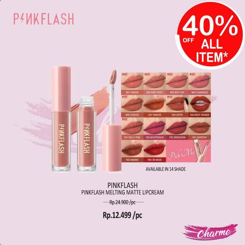 Foto Produk (READY & ORI) Pinkflash Melting Matte Lipcream Lip Matte L01 L 01 - P02 dari Charme Official Store