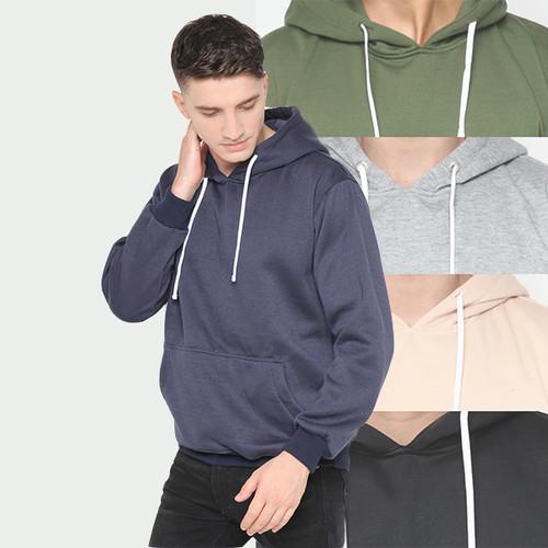 Foto Produk Hoodieku Hoodie Jumper Basic Polos Pria - navy, XL dari hoodieku official